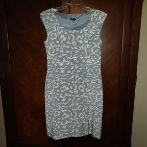 ANN TAYLOR silk shift dress.